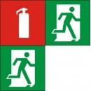 Информационные наклейки на пожарную тематику